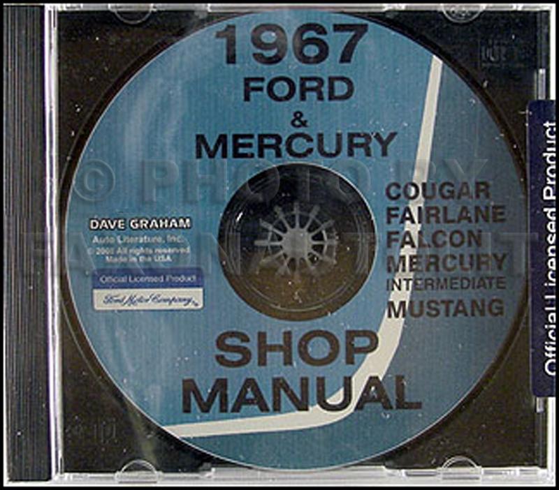 1967 CD Repair Shop Manual Mustang Falcon Fairlane Ranchero Cougar