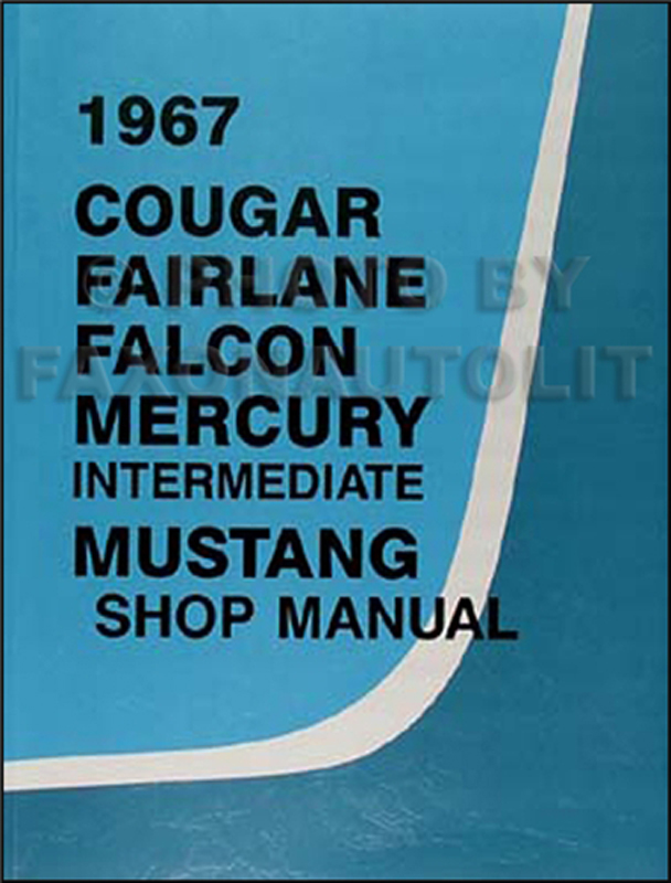 1967 Ford Mustang Wiring Diagram Manual Reprint - Vtlatalanta