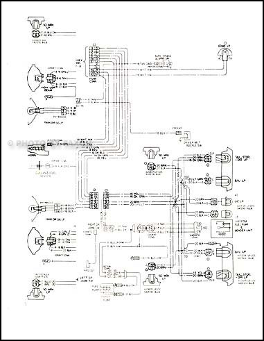 1978 Chevy Impala and Caprice Classic Foldout Wiring Diagram Original