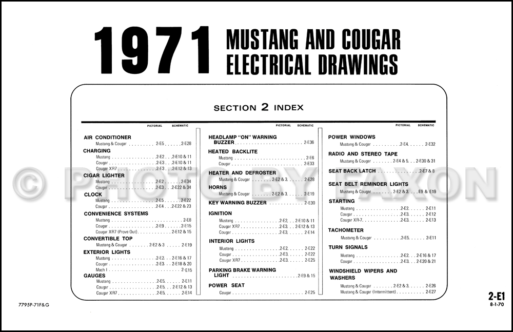 1971 mustang wiring schematic