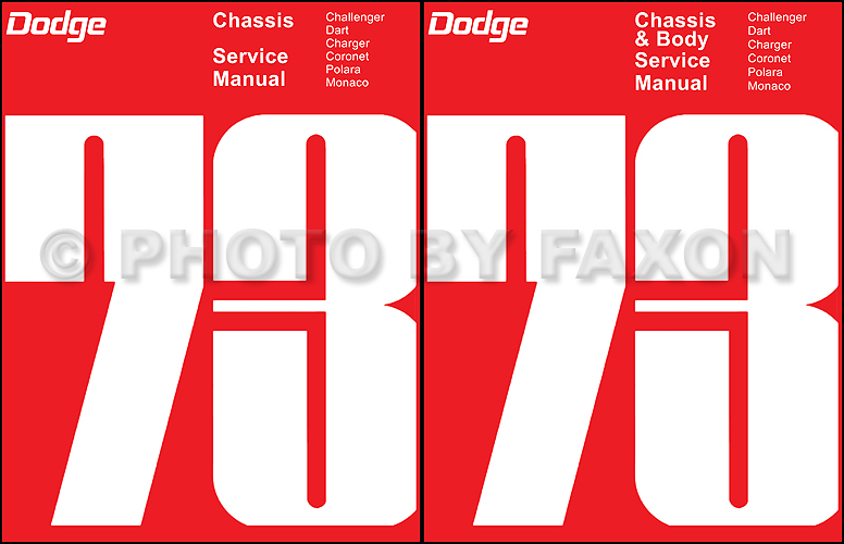 1973 Dodge Repair Shop Manual Reprint Challenger Charger Coronet
