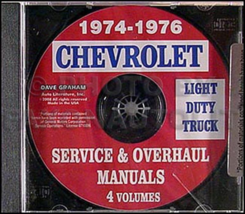 1974-1976 Chevrolet Pickup, Blazer, Van,  Suburban Repair Shop