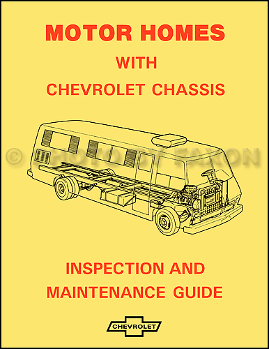 1974 Chevrolet Motor Home Chassis Owner\u0027s Manual Reprint
