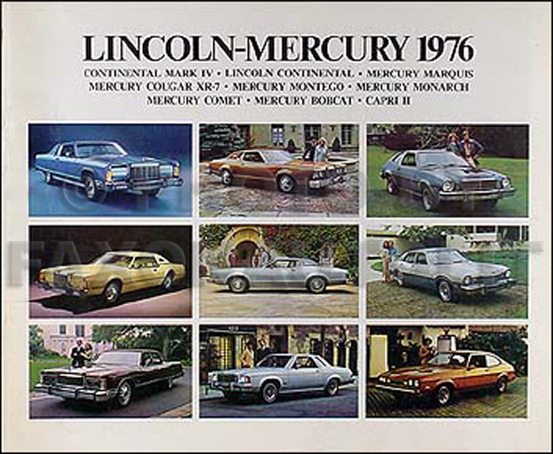 1976 Lincoln Mark V Continental Mercury Sales Brochure Original