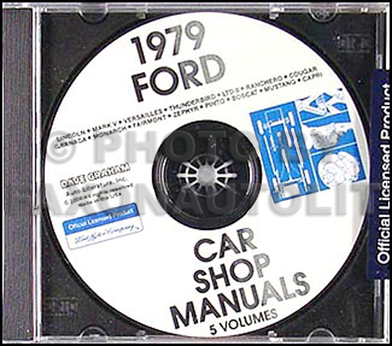 1979 Ford Lincoln Mercury CD-ROM Repair Shop Manual for all cars 79