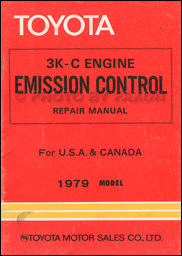 1979 Toyota Pickup and Corolla 3K-C Emission Control Repair Shop