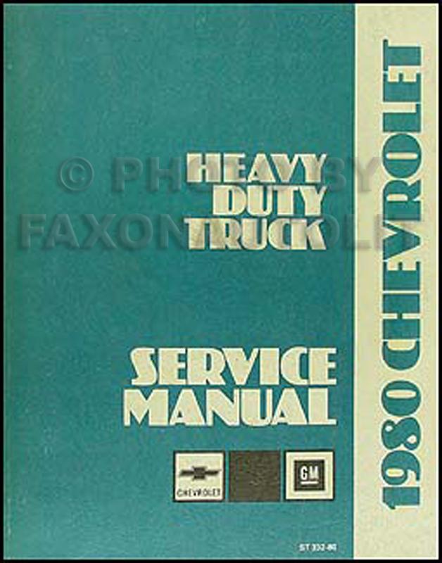 1980 Chevrolet 80-90 Heavy Truck Service Manual Original Titan Bruin