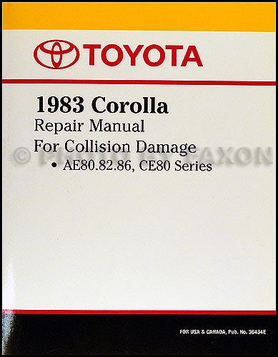 1983-1987 Toyota Corolla Body Collision Manual Factory Reprint