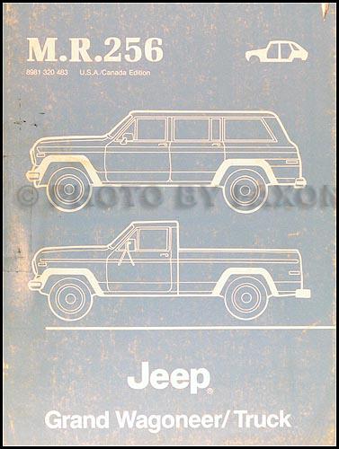 1984-1988 Jeep Grand Wagoneer and Truck Body Manual Original--MR256