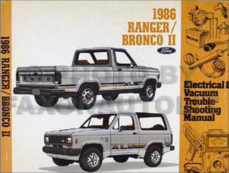 1986 Ford Ranger and Bronco II Electrical Troubleshooting Manual