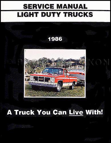 1986 GMC Repair Shop Manual Original Van/Pickup Truck/Suburban/Jimmy
