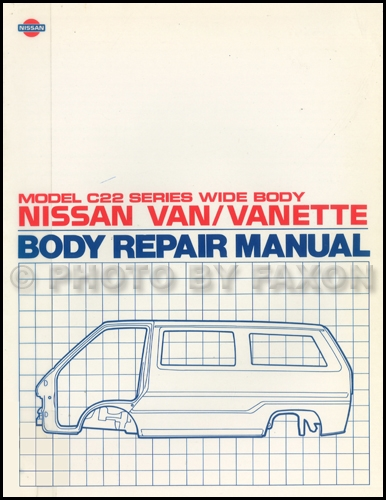 1987-1990 Nissan Van Body Repair Shop Manual Original