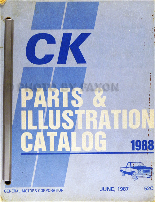 1988 Chevrolet and GMC C and K 1500-3500 Pickup Parts Book Original