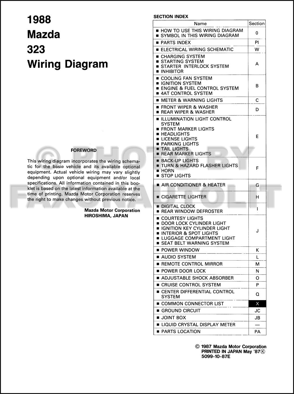 wiring diagram mazda 323