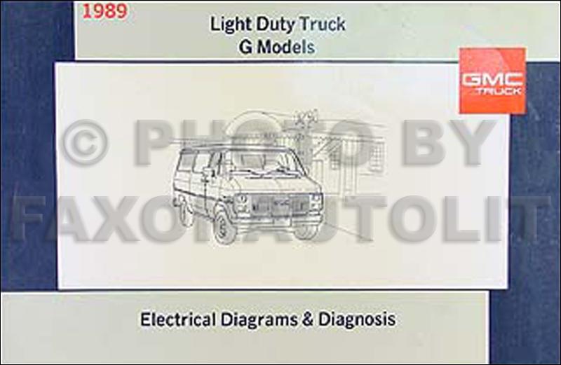 1989 GMC G Van/Vandura Wiring Diagram Manual Original