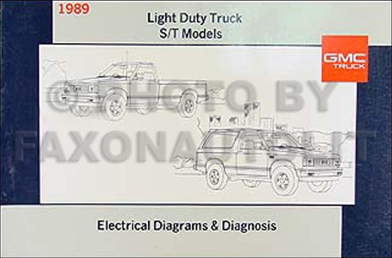 1989 GMC S15 Pickup and Jimmy Wiring Diagram Manual Original