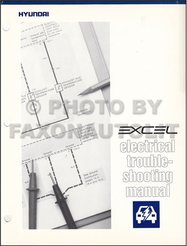 1990-1991 Hyundai Excel Electrical Troubleshooting Manual Original