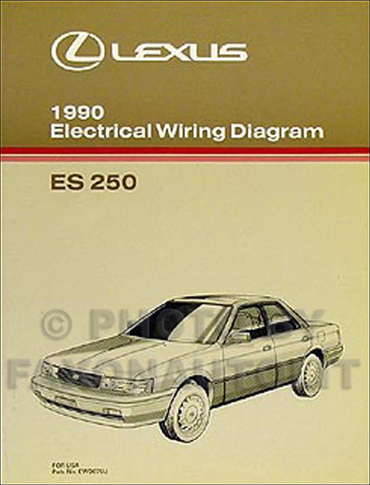 1990 Lexus ES 250 Wiring Diagram Manual Original