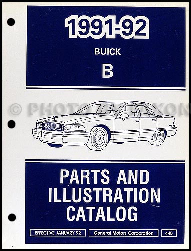 1992 Buick Roadmaster Fuse Panel Index listing of wiring diagrams