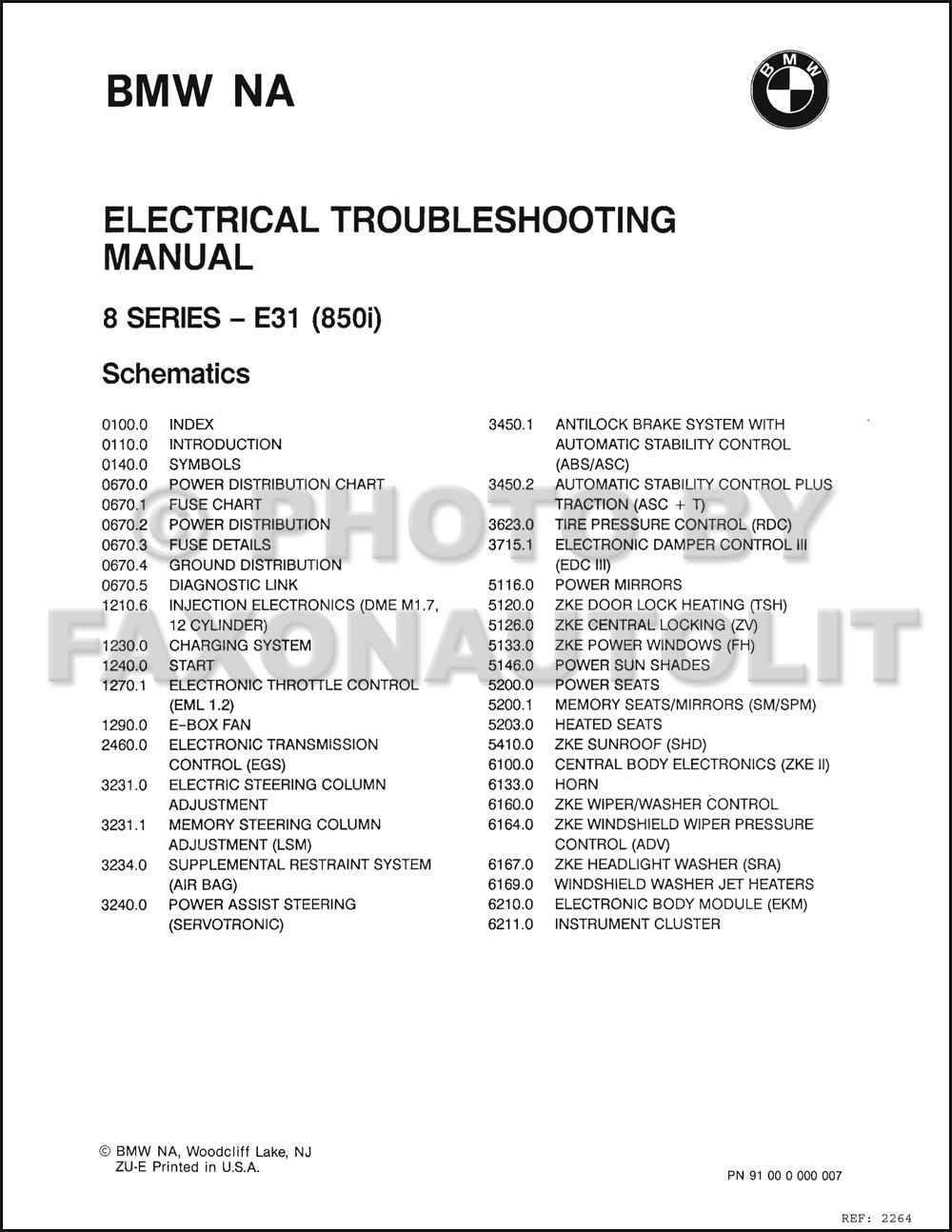 1991 bmw 850i wiring diagram
