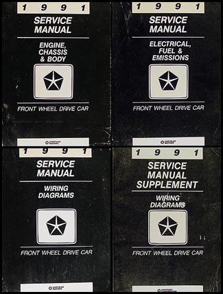 1991 FWD Repair Shop Manual Set Chrysler LeBaron New Yorker Imperial