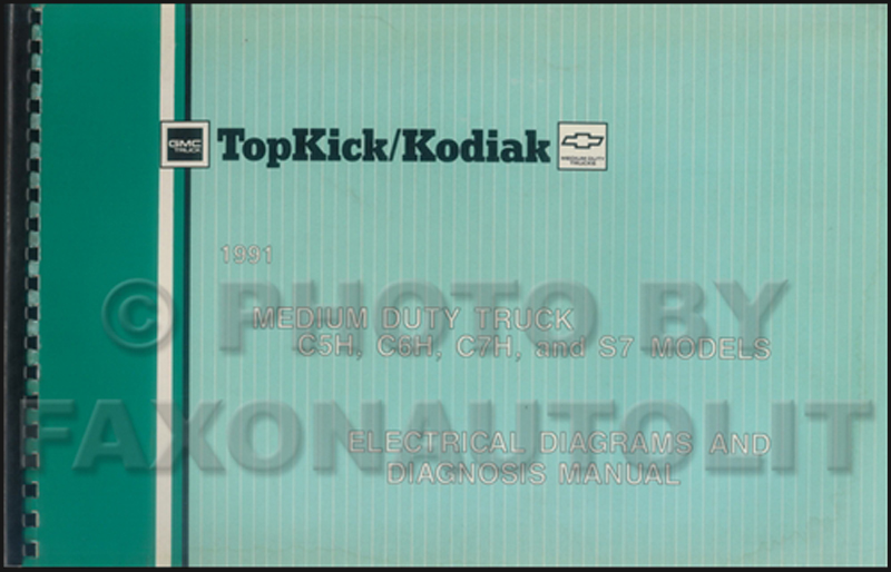 1991 GMC/Chevy Topkick, Kodiak,  S7 Wiring Diagram Manual Original