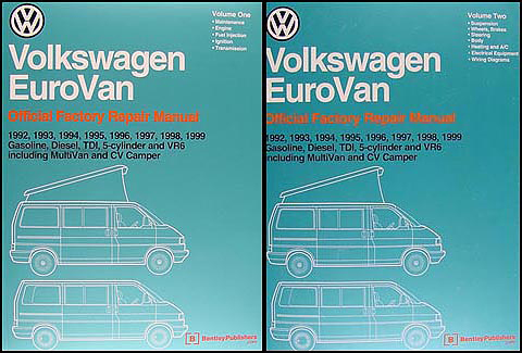 1992-1999 VW EuroVan Bentley Repair Shop Manual
