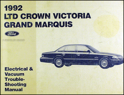 1992 Ford Crown Victoria Mercury Grand Marquis Electrical
