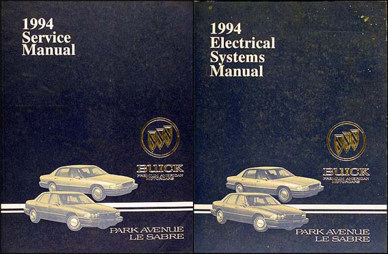 1994 Buick Park Avenue, Ultra and Le Sabre Repair Shop Manual Set