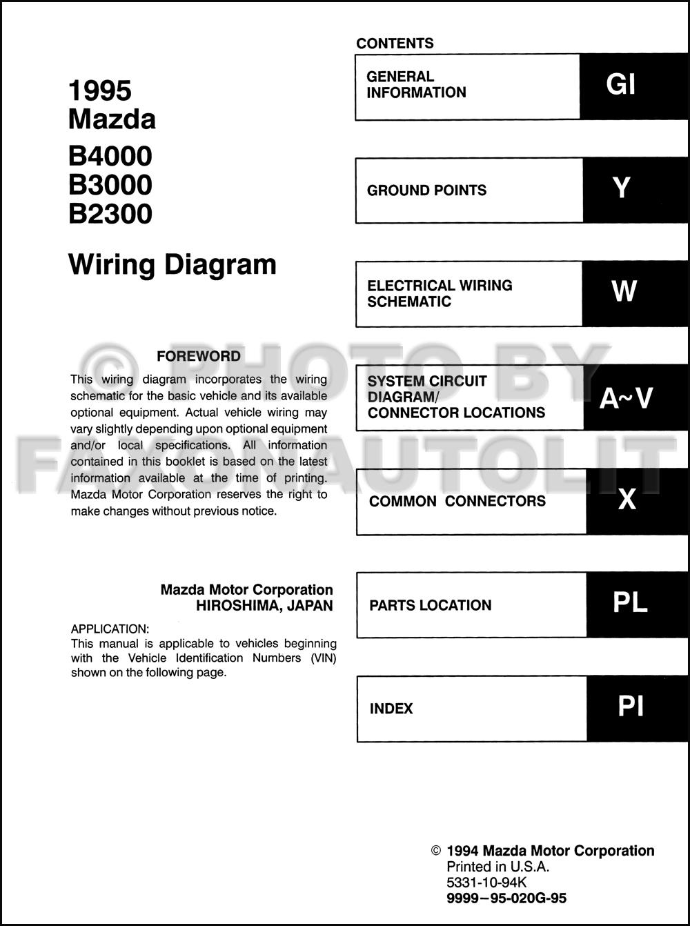 wiring diagrams for 1995 mazda b4000