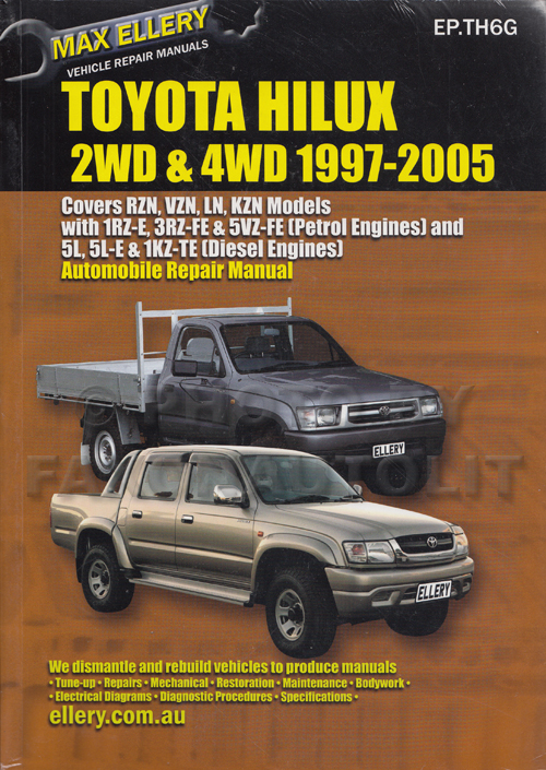 1997-2005 Toyota Hilux  4Runner (non-US) Repair Shop Manual by