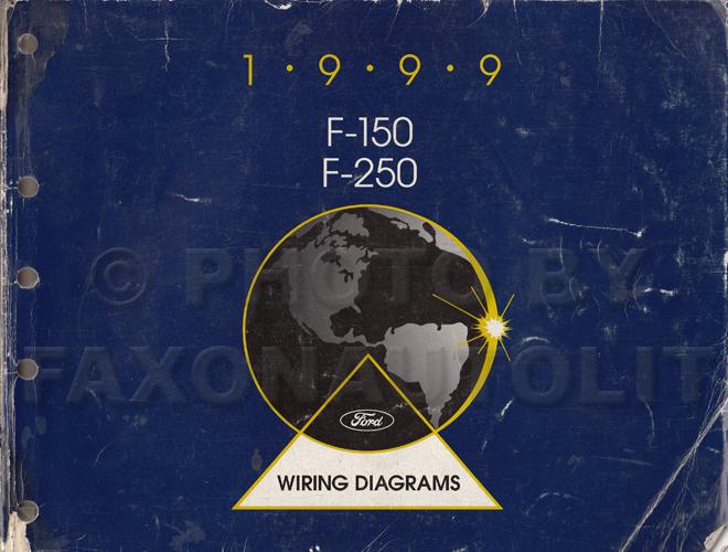1999 Ford F-150  F-250 Wiring Diagram Manual Original