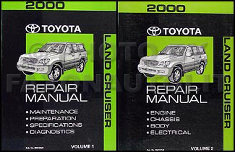 2000 Toyota Land Cruiser Repair Shop Manual Original Set