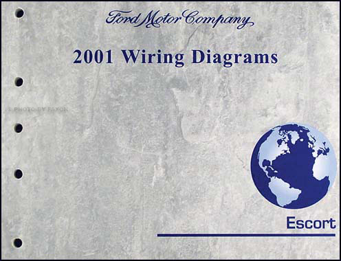 2001 Ford Escort  ZX-2 Wiring Diagram Manual Original