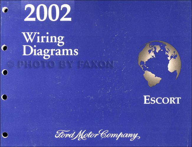 2002 Ford Escort  ZX-2 Wiring Diagram Manual Original