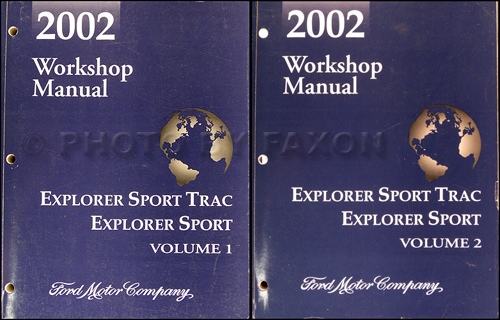2002 Ford Explorer Sport  Sport Trac Repair Shop Manual Original Set