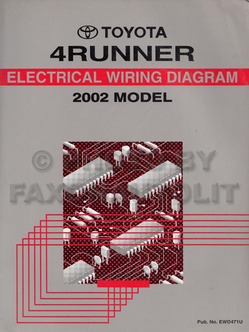 2002 Toyota 4Runner Wiring Diagram Manual Original