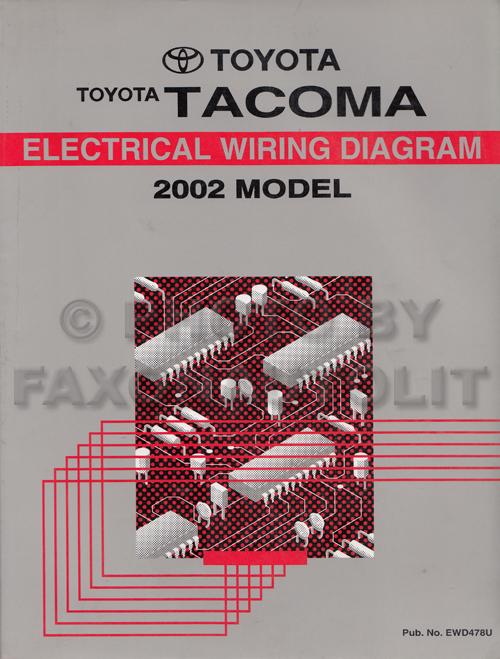 2002 Toyota Tacoma Pickup Wiring Diagram Manual Original