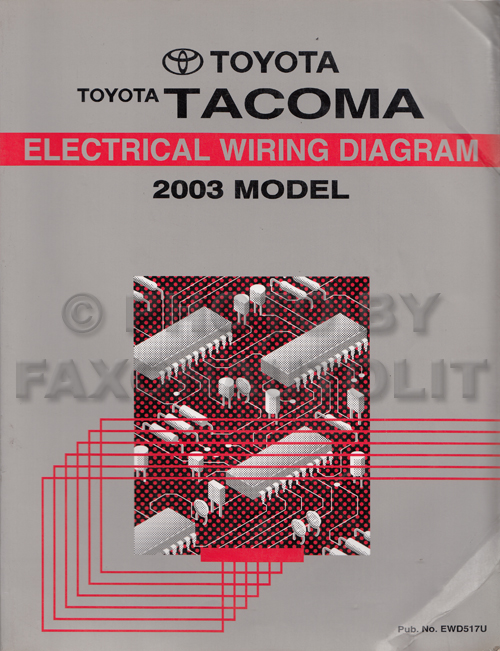 2003 toyota tacoma electrical wiring diagram
