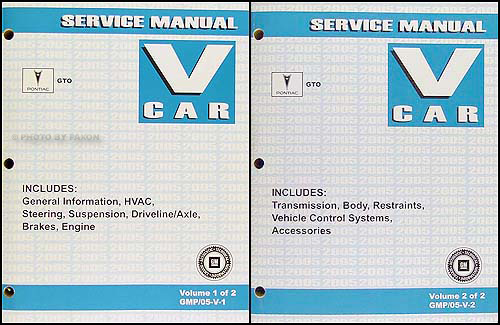 2005 pontiac gto service manual