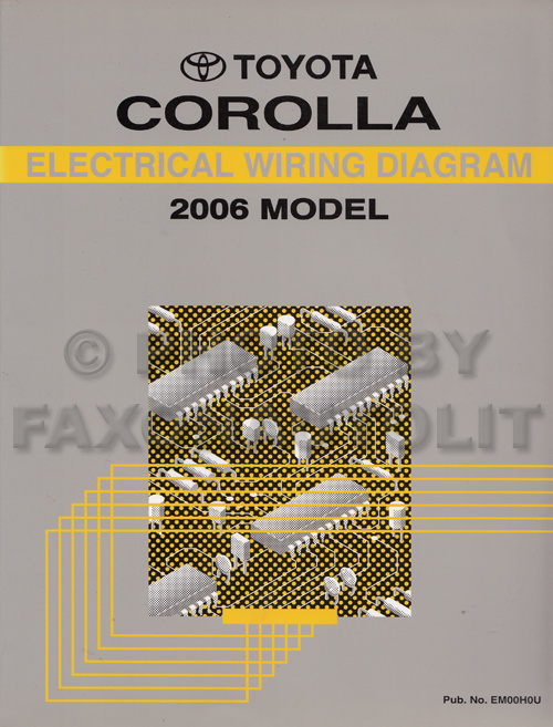 2006 Toyota Corolla Wiring Diagram Manual Original