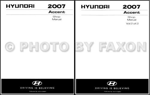 2007 hyundai accent electrical troubleshooting manual original