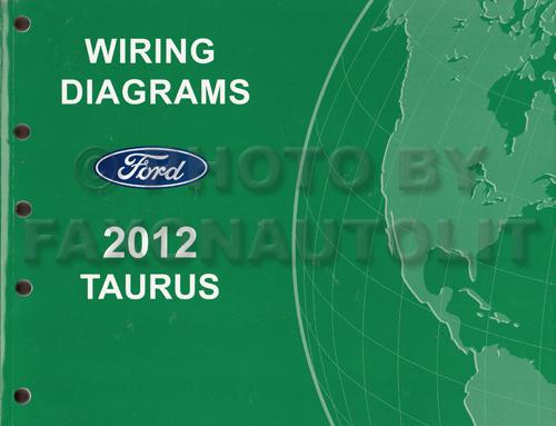2012 Ford Taurus Wiring Diagram Manual Original