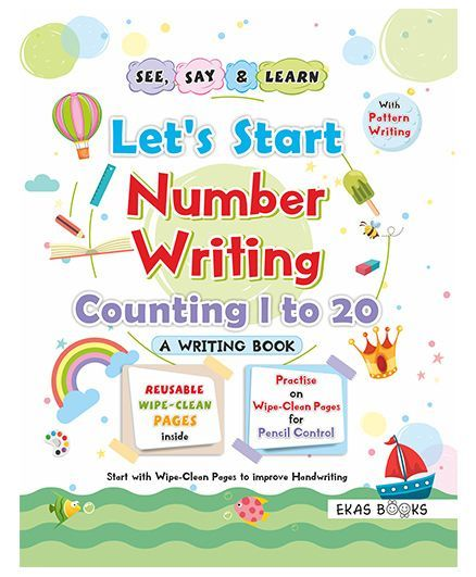 Writing Book Lets Start Numbers Writing Book English Online in India - Numbers In Writing