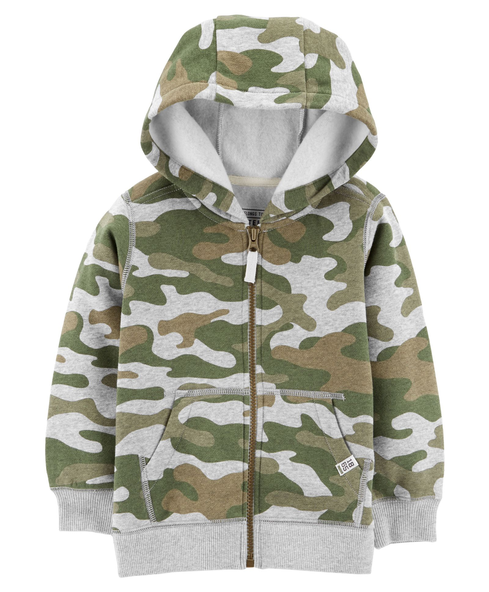 Camo Hoodie India Buy Carters Zip Up Hoodie Green For Boys 6 9 Months Online In India Shop At Firstcry 1916299