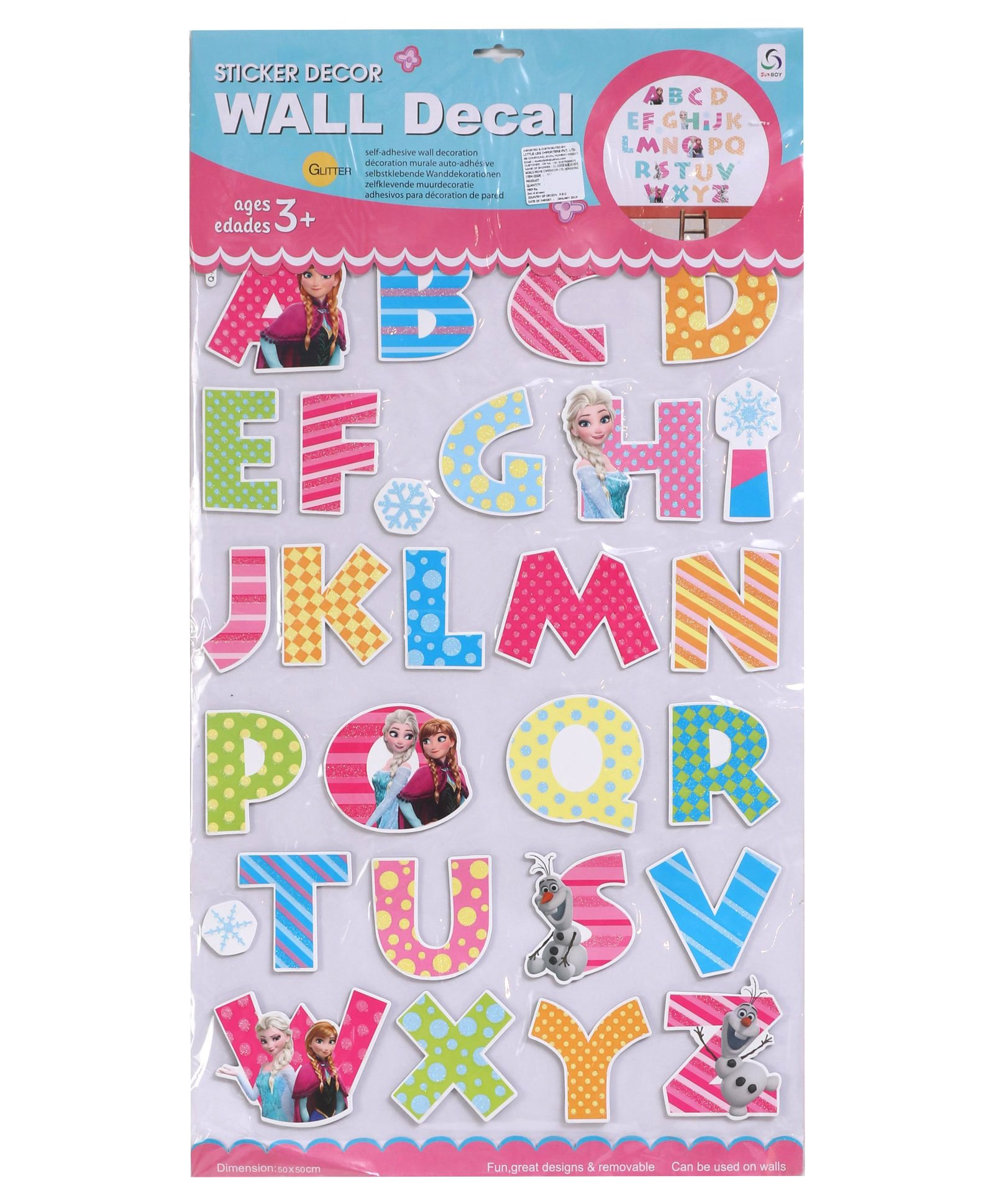 Alphabet Theme Wall Sticker Multicolour Online In India Buy At - Muurdecoratie Stickers