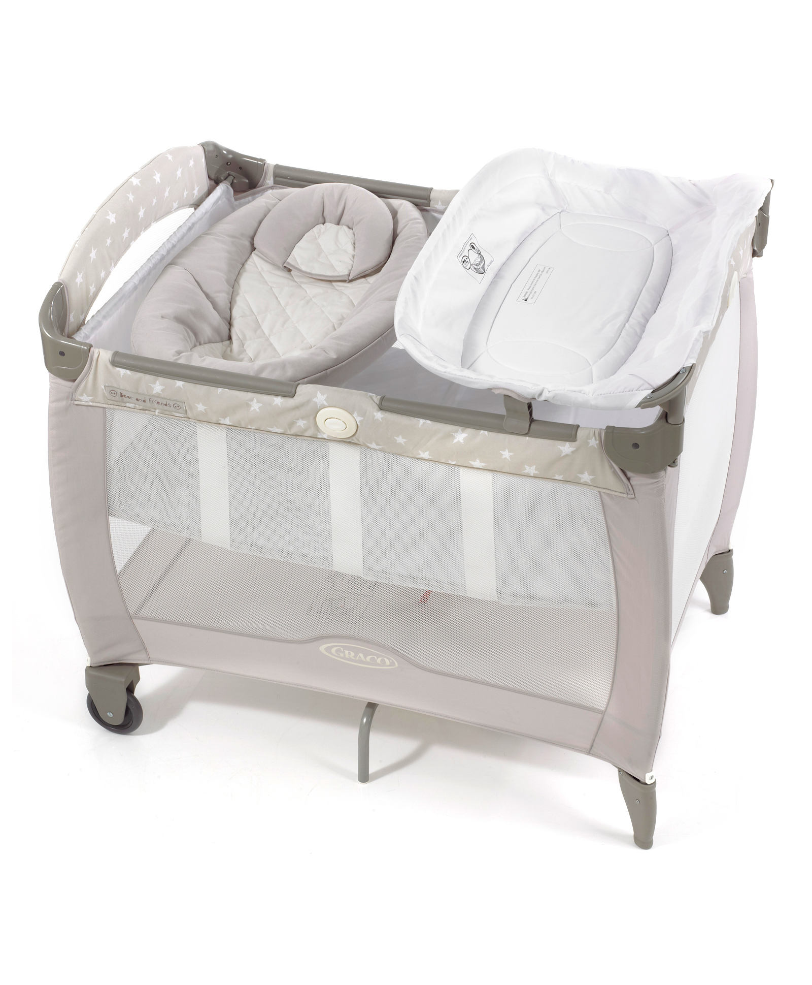 Baby Cradle Graco Graco Pack N Play Contour Electra Bassinet With Napper Bear
