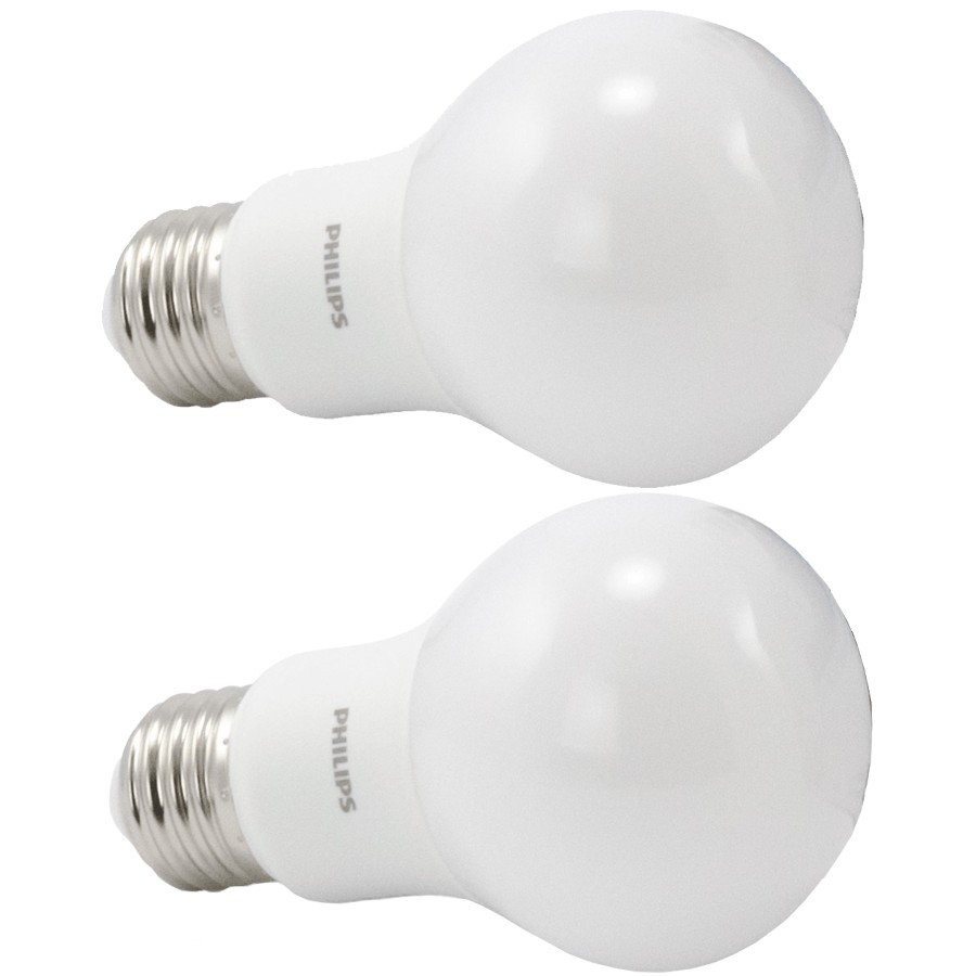 Philips 2 Pack 8w A19 Medium Base Daylight Non Dimmable Led Light Bulbs Fennell Gage Home Hardware