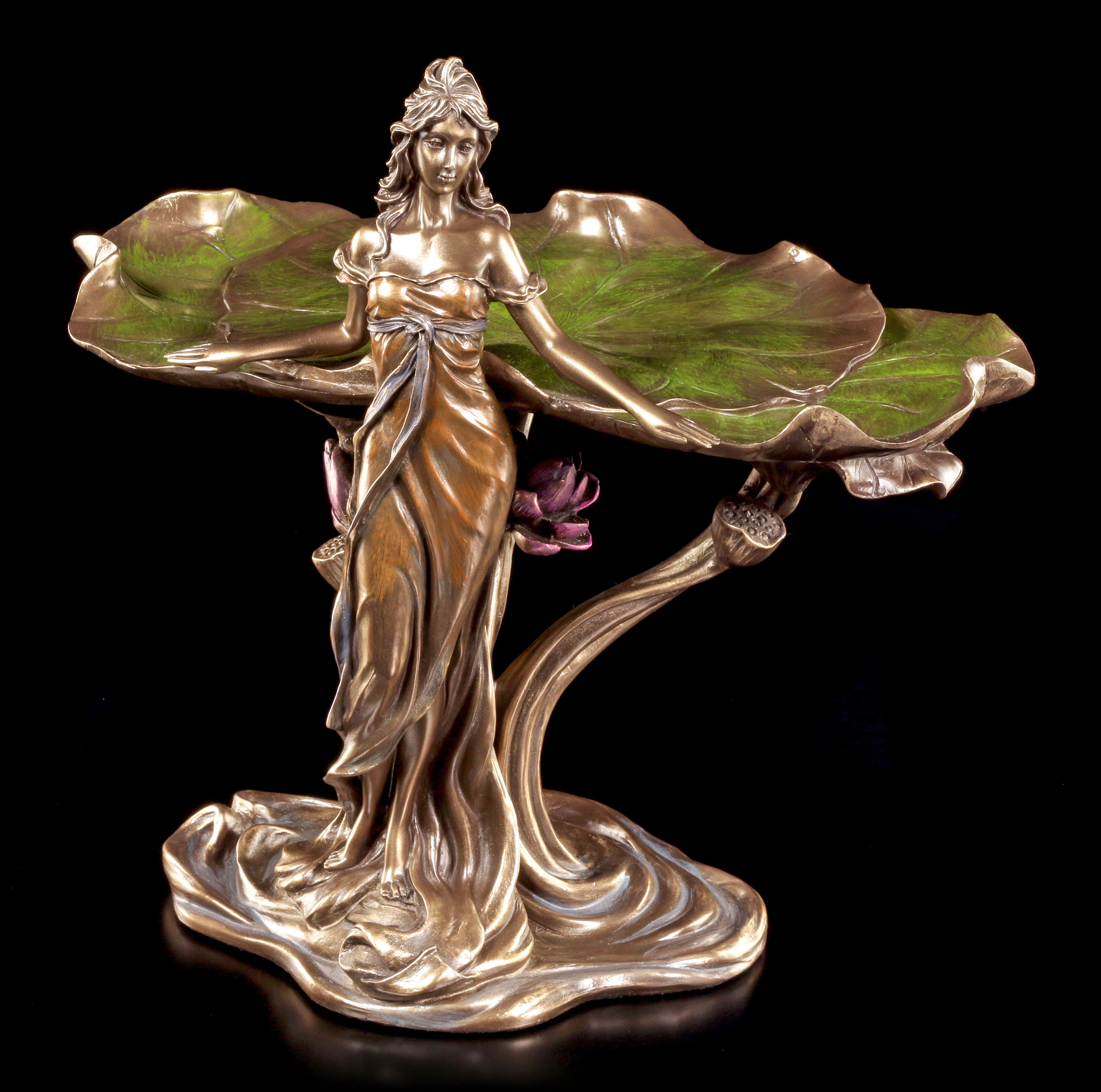 Figuren Shop 24 Art Nouveau Plate Standing Woman