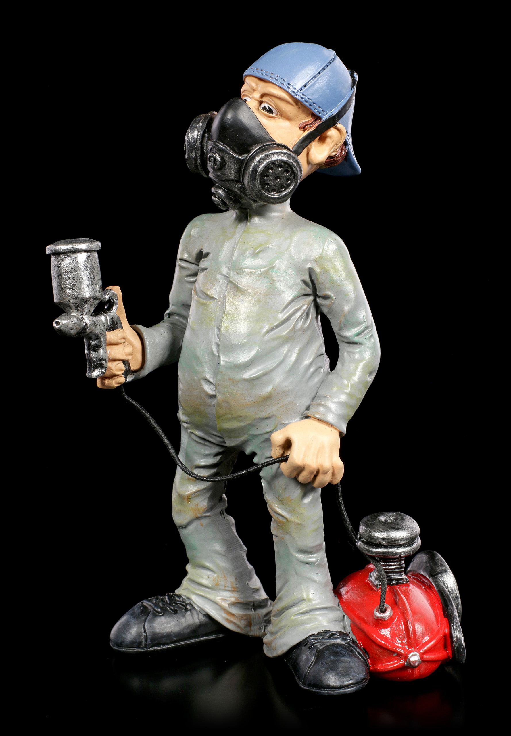 Lackirer Maler Funny Jobs Figurine Painter With Face Mask
